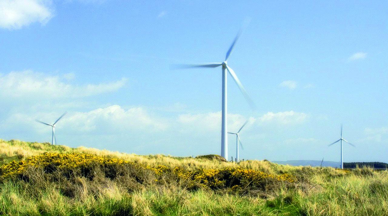 Windenergie tragende Säule